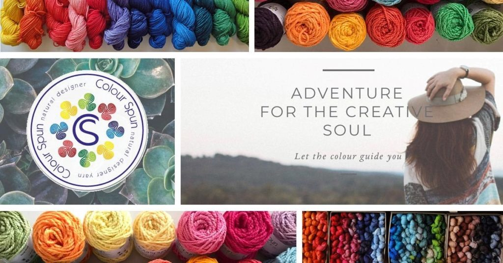 ColourSpun - Adventure for the Creative Soul - Let the colour guide you. A collage of ColourSpun yarns