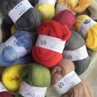 ColourSpun Pure Merino Roving - for spinning your own yarn or for felting. Hand dyed in over 360 colours.