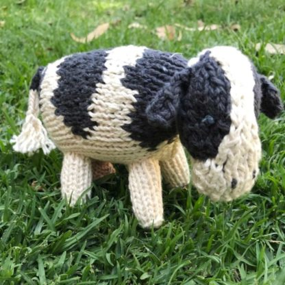 ColourSpun Cow Kit - a kit containing all the materials you need plus free instructions to knit a cow