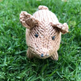 ColourSpun Pig Kit - a kit containing all the materials you need plus free instructions to knit a Pig