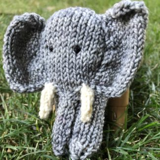 ColourSpun Elephant Finger Puppet Kit