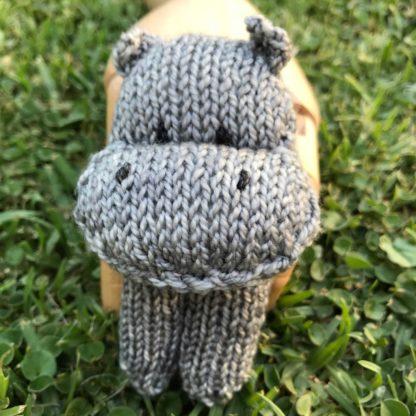 ColourSpun Hippo Finger Puppet Kit