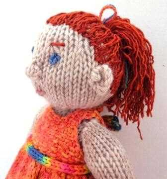 A ColourSpun knit doll kit, this one is called Aine and has fingers and toes