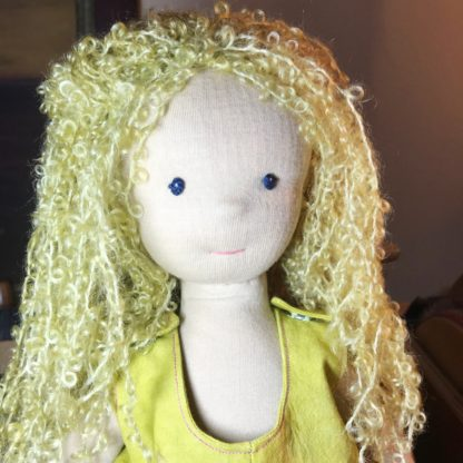 Tied Kid Mohair Wig Kit for stitched dolls