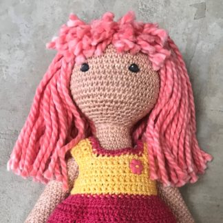 Chunky Cotton Tied Wig Kit for Crochet Doll