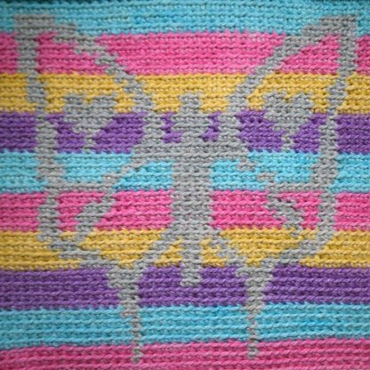 Butterfly Kisses Blanket closeup of butterfly