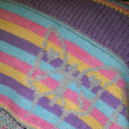 Butterfly Kisses Blanket closeup of butterfly and border