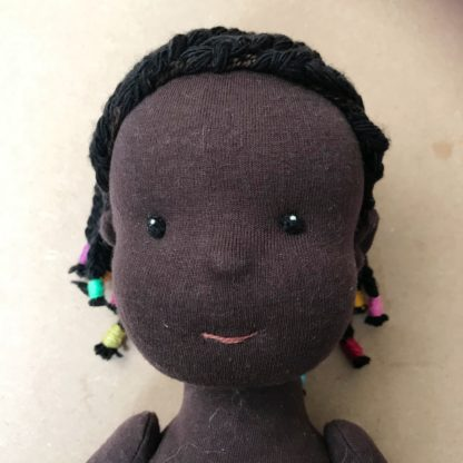 Braided wig kit for stitched dolls Front view