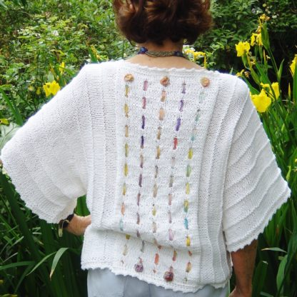 Rosy Cotton Top - back view