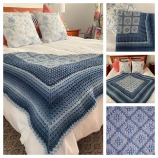 A beautiful crochet throw designed by Debbie Hemsley from The Neave Collection. This one is called Terry Throw