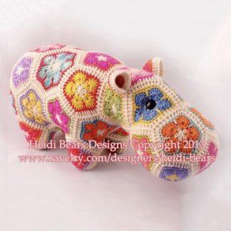 Happypotomus crochet hippo by Heidi Bears