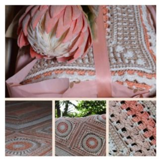 Blushing Bride crochet blanket by Debbie Hemsly of The Neave Collection