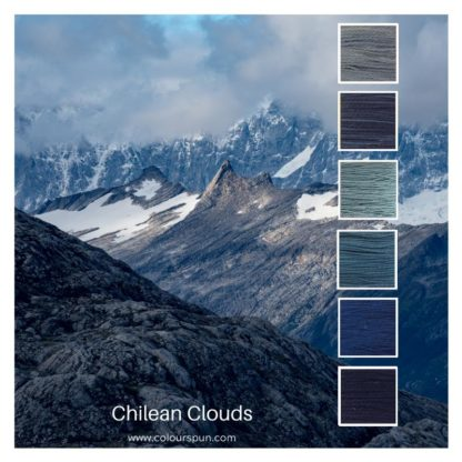 Chilean Clouds Colour Stack, inspired by the clouds over the mountains in Chile