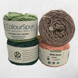 ColourSpun Pure Cotton Aran yarn