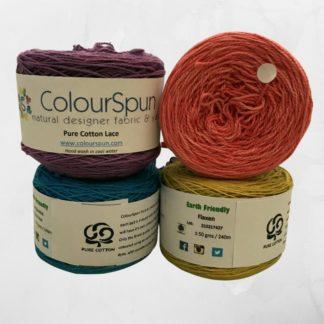 ColourSpun Pure Cotton Lace yarn