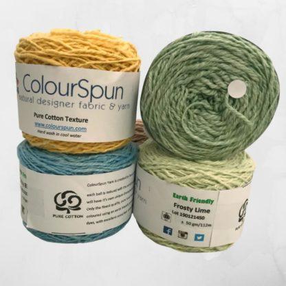 ColourSpun Pure Cotton Texture yarn