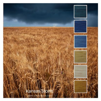 Kansas Storm is a 6 colour Colour Stack inspired by a storm over a wheatfield in Kansas