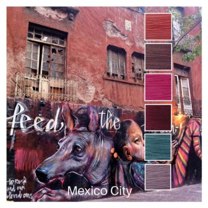 Mexico City is a 6 colour Colour Stack inspired by a street scene in Mexico City