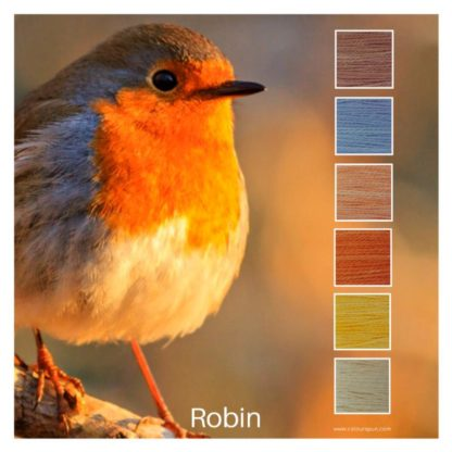 Robin is a Colour Stack of 6 colours inspired by the feathers of a robin bird