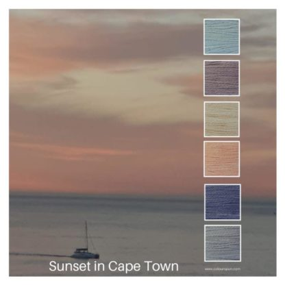 Sunset in Cape Town is a Colour Stack of 6 colours inspired by a pink sunset over the Atlantic ocean