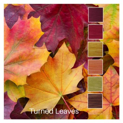 Turned Leaves is a Colour Stack of 6 colours inspired by the changing colours of Autumn leaves