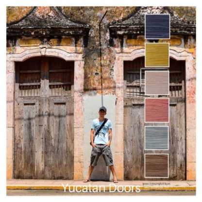 Yucatan Doors is a Colour Stack of 6 colours inspired by a pair of old doors in Yucatan